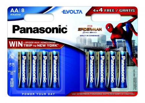 Panasonic Evolta AA, Spider-Man Edition, 4 + 4 zdarma