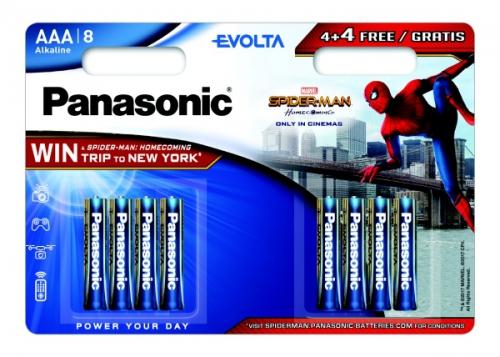 Panasonic Evolta AAA, Spider-Man Edition, 4+ 4 zdarma
