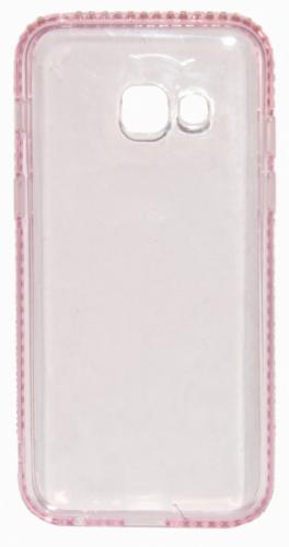 Beeyo Diamond Frame pro Samsung Galaxy A3 (2017) růžový (BEASAGAA32017TPUFRPI)