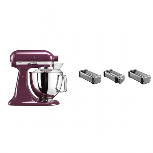 Set (Příslušenství k robotům KitchenAid KPRA) + (Kuchyňský robot KitchenAid Artisan 5KSM175PSEBY)