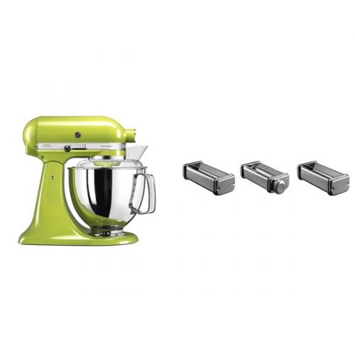 Set (Přísl. k robotům - nástavec na těstoviny KitchenAid 5KSMPRA) + (Kuchyňský robot KitchenAid Artisan 5KSM175PSEGA)