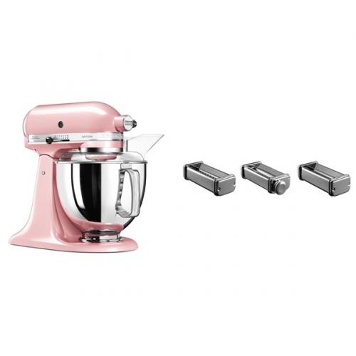 Set (Přísl. k robotům - nástavec na těstoviny KitchenAid 5KSMPRA) + (Kuchyňský robot KitchenAid Artisan 5KSM175PSESP)