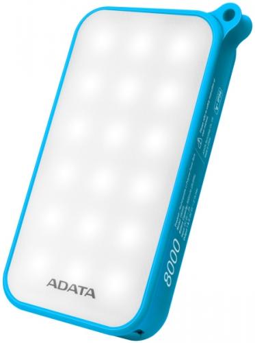 ADATA D8000L 8000mAh, outdoor LED svítilna modrá