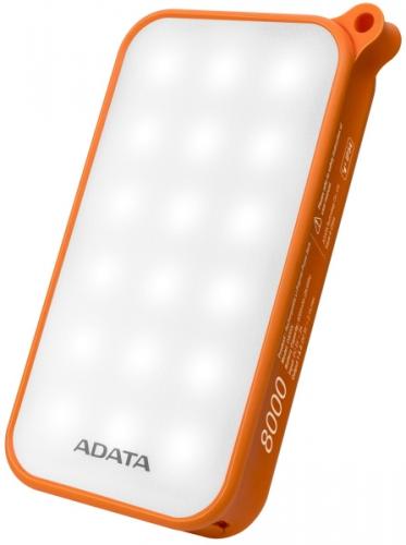ADATA D8000L 8000mAh, outdoor LED svítilna oranžová
