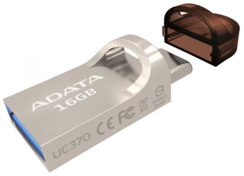 ADATA UC370 16GB, USB 3.1 + USB-C, OTG zlatý