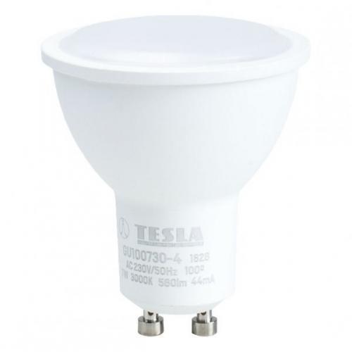 Tesla bodová, 7W, GU10, teplá bílá bílá