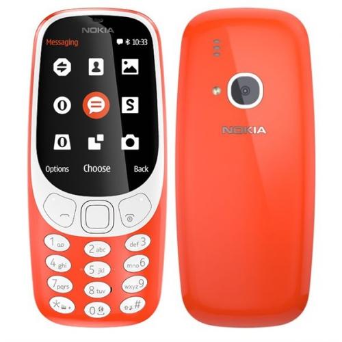 Nokia 3310 (2017) Dual SIM červený + dárek (A00028109)