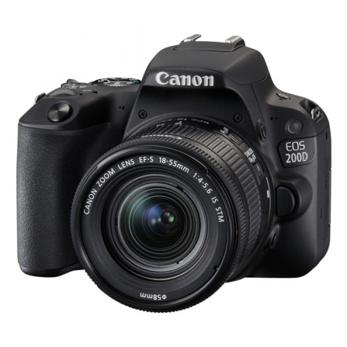 Canon EOS 200D + 18-55 IS STM černý + dárek (2250C002)