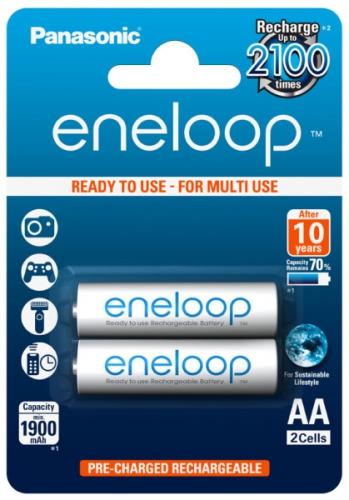 Panasonic Eneloop AA, 1900mAh, 2 ks bílá