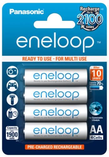Panasonic Eneloop AA, 1900mAh, 4 ks bílá