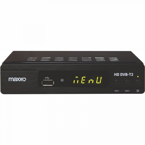 Set-top box Maxxo T2 HEVC/H.265 černý + dárek