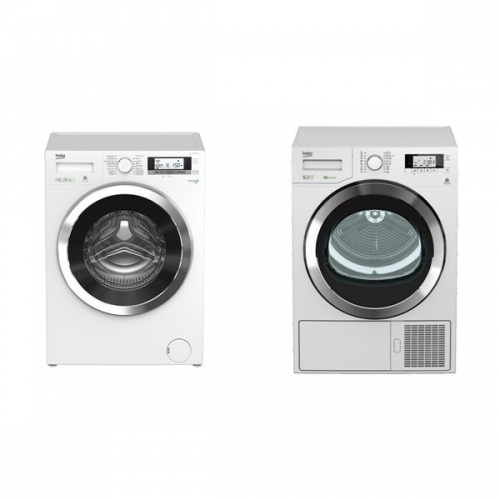 Set (Sušička prádla Beko DPY 8506 GXB1) + (Pračka Beko Superia WMY 61243 CS PTLB1)