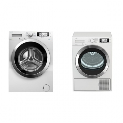 Set (Sušička prádla Beko DE 8635 RX0) + (Automatická pračka Beko Superia WMY 71243 CS PTLMB1)