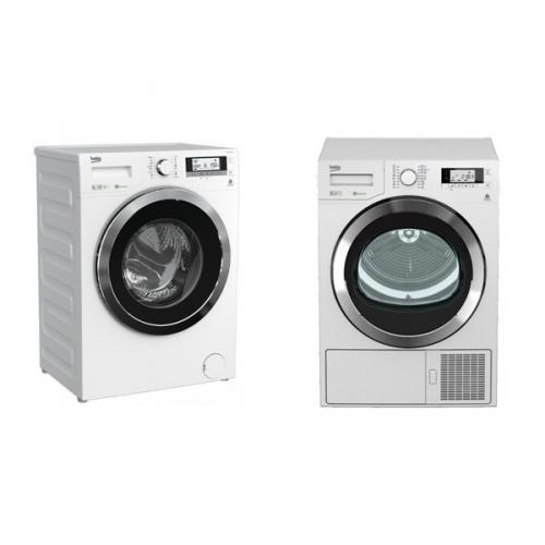 Set (Sušička prádla Beko DPY 8506 GXB1) + (Automatická pračka Beko Superia WMY 81443 STB1)
