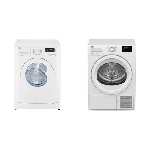 Set (Automatická pračka Beko WTV 7602 CS B0) + (Sušička prádla Beko DPS 7405 G B5)