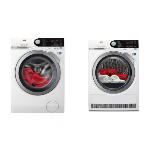 Set (Pračka AEG ProSteam® L7FBE48SC) + (Sušička prádla AEG AbsoluteCare® T8DBE68SC)