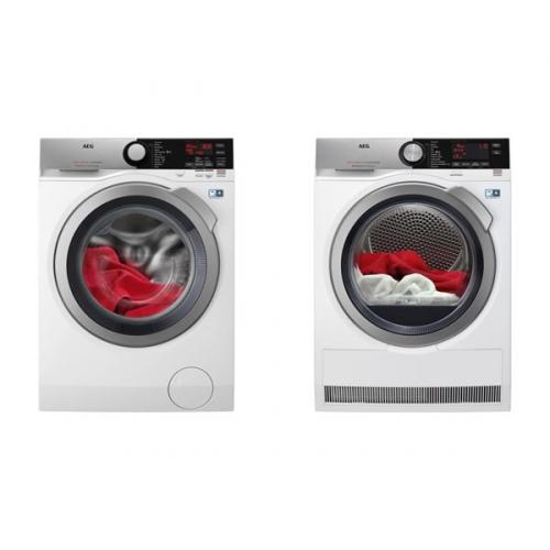 Set (Automatická pračka AEG ProSteam® L7FEE48SC) + (Sušička prádla AEG AbsoluteCare® T8DEC68SC)