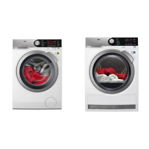 Set (Sušička prádla AEG AbsoluteCare® T8DEE48SC) + (Pračka AEG ÖKOMix® L8FEC68SC)