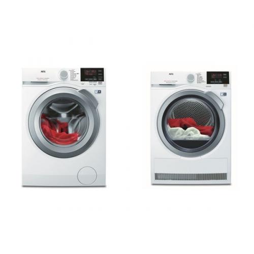 Set (Sušička prádla AEG AbsoluteCare® T8DEG48SC) + (Pračka AEG ProSense™ L6FBG48SC)