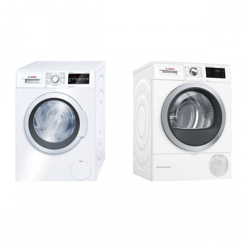 Set (Sušička prádla Bosch WTW876WBY) + (Automatická pračka Bosch WAT24460BY)