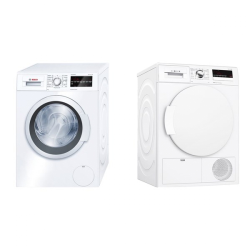 Set (Automatická pračka Bosch WAT24460BY) + (Sušička prádla Bosch WTH83290BY)