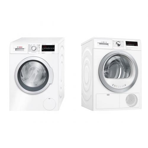 Set (Sušička prádla Bosch WTH85290BY) + (Automatická pračka Bosch WAT28467CS)