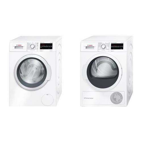 Set (Sušička prádla Bosch WTW87467CS) + (Automatická pračka Bosch WAT28467CS)