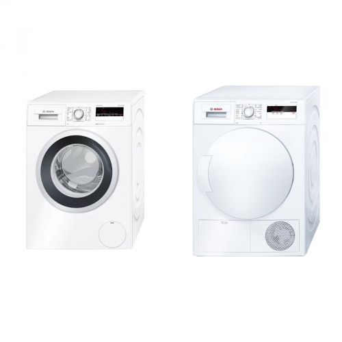 Set (Automatická pračka Bosch WAN28260CS) + (Sušička prádla Bosch WTH83000BY)