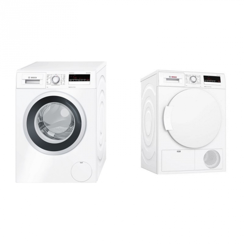 Set (Sušička prádla Bosch WTH83250BY) + (Automatická pračka Bosch WAN28260CS)