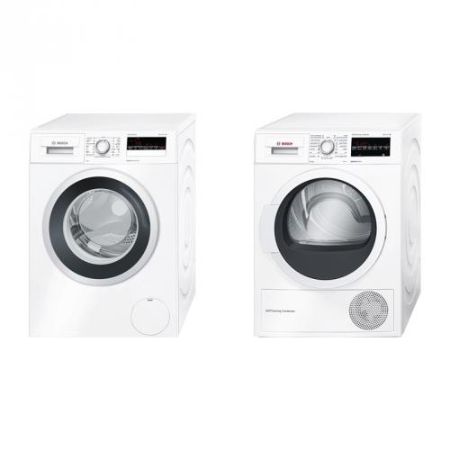 Set (Sušička prádla Bosch WTW87467CS) + (Automatická pračka Bosch WAN28260CS)