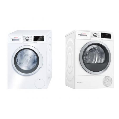 Set (Sušička prádla Bosch WTW876WBY) + (Automatická pračka Bosch WAT28660BY)