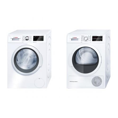 Set (Sušička prádla Bosch WTW85460BY) + (Automatická pračka Bosch WAT28660BY)