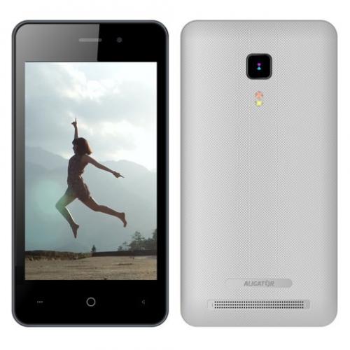 Aligator S4080 Dual SIM stříbrný + dárek (AS4080SR)