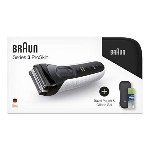 Fotografie Braun 3040s W&D +toaletní taška+pouzdro+gel na holení