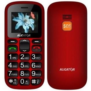 Mobilní telefon Aligator A321 Senior Dual SIM černý/červený