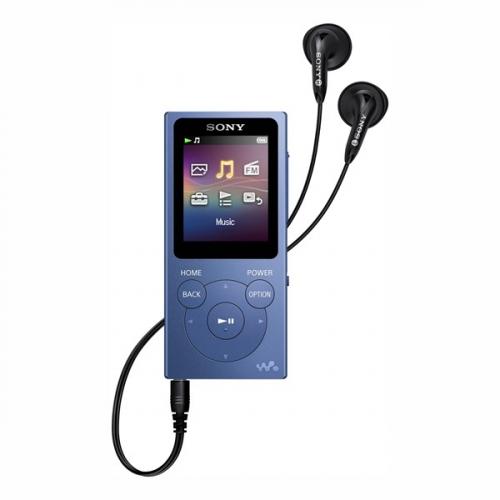 MP3 přehrávač Sony NW-E394L modrý