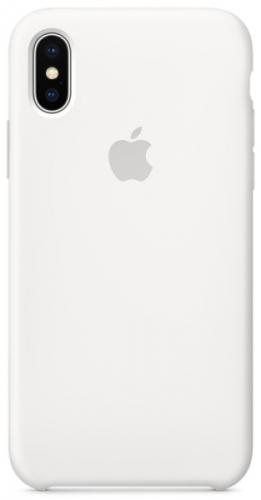 Apple Silicone Case pro iPhone X bílý