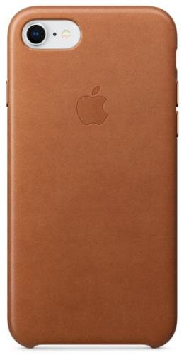 Kryt na mobil Apple Leather Case pro iPhone 8/7 - sedlově hnědý