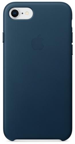 Kryt na mobil Apple Leather Case pro iPhone 8/7 - vesmírně modrý