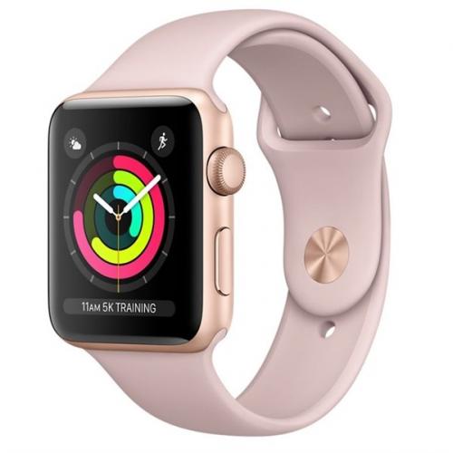 Chytré hodinky Apple Watch Series 3 GPS 38mm pouzdro ze zlatého hliníku -  pískově růžový sportovnm ad48ebdf55e