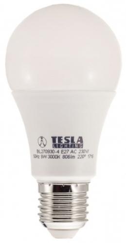 Žárovka LED Tesla 9W, E27, teplá bílá