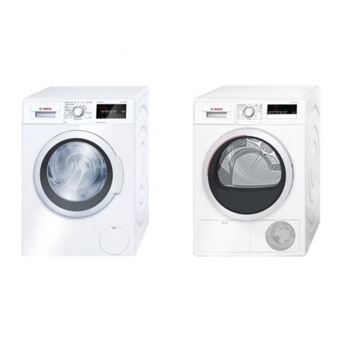 Set (Sušička prádla Bosch WTH85207CS) + (Automatická pračka Bosch WAT24360BY)