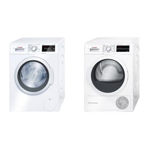 Set (Sušička prádla Bosch WTW87463BY) + (Automatická pračka Bosch WAT24360BY)