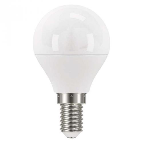 EMOS mini globe, 6W, E14, teplá bílá