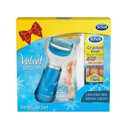 Scholl Velvet Smooth + krém na rozpraskané paty 60 ml + dárek