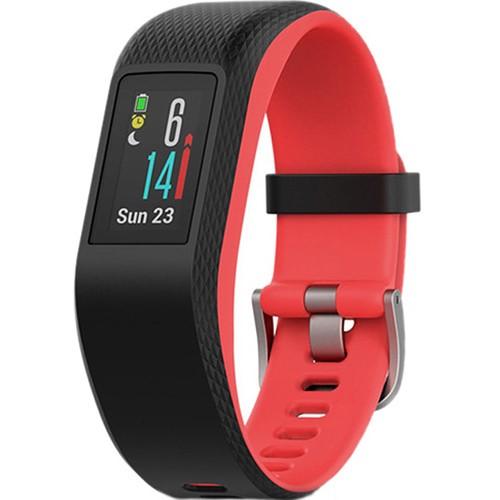 Fitness náramek Garmin vivoSport (S/M) černé/červené