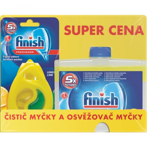 Fotografie Finish Citrón čistič myčky + Deo Citrón osvěžovač 250 ml