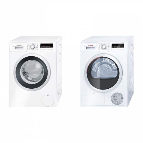 Set (Automatická pračka Bosch WAN28260CS) + (Sušička prádla Bosch WTH85201BY)