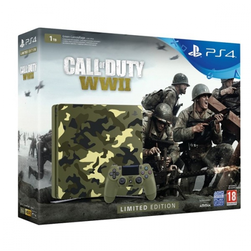Sony SLIM 1TB + Call of Duty WW II + That's You - kamufláž