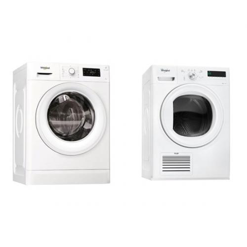 Set (Automatická pračka Whirlpool FWG81284W EU) + (Sušička prádla Whirlpool HDLX 80410)